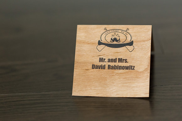 Wood coloured place card