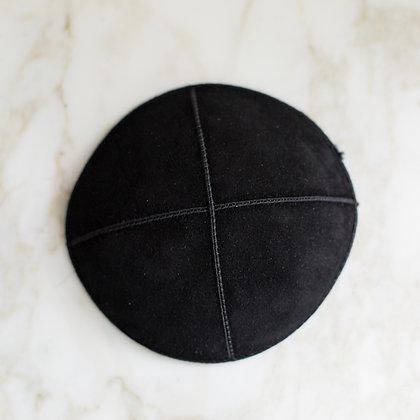 Black Suede Kippa (per dozen)