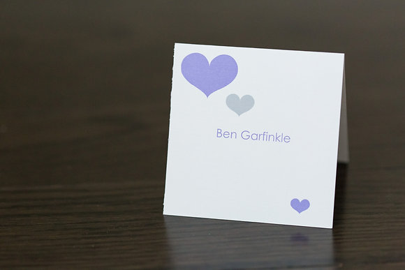 Purple heart place card
