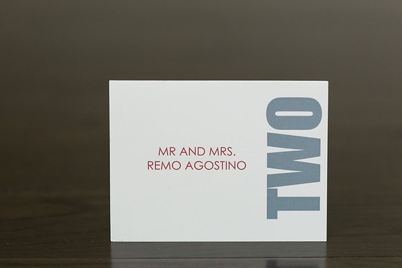 The vertical place card