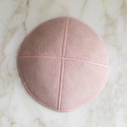 Light Pink Suede Kippa (per dozen)