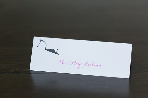 Heel place card