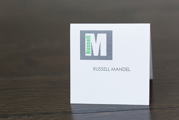 Single Initial place card