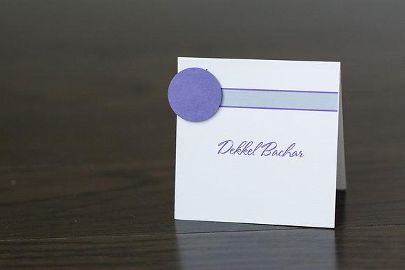 Purple circle place card