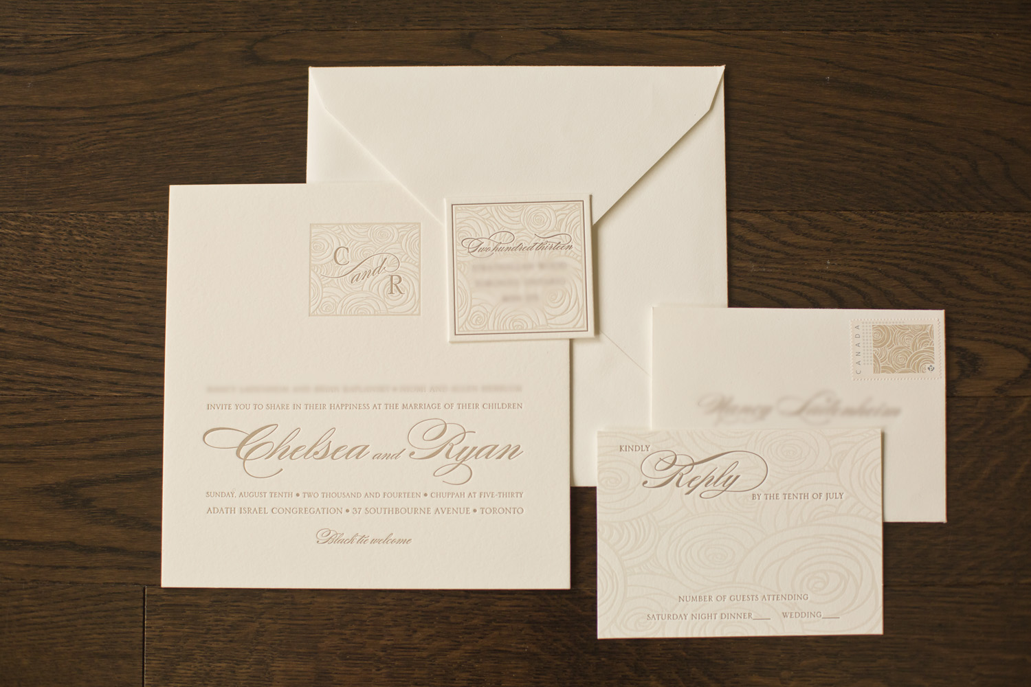 Elegant invitation package