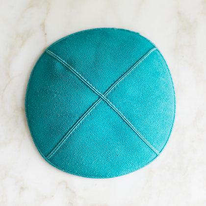 Turquoise Suede Kippa (per dozen)