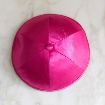 Pink Satin Kippa (per dozen)