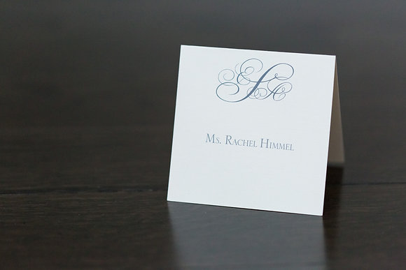 Logo'd place card