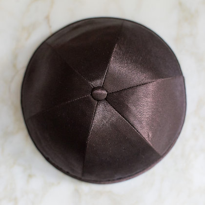 Brown Satin Kippa (per dozen)
