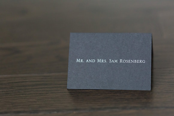 Simply black place card