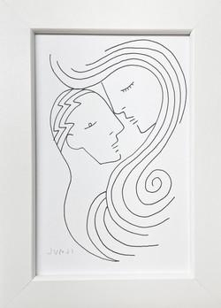 「君の髪が僕の肩を飲み込む」2021