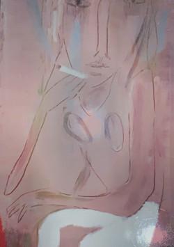 「白いデニムとグレイの空」1999