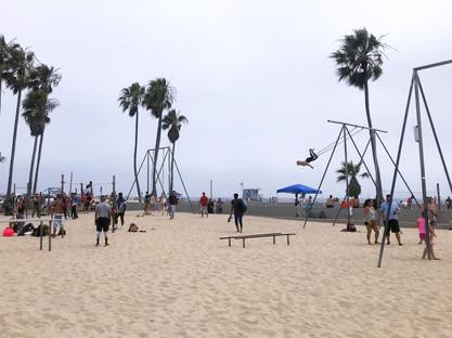 Entraînement physique sur la plage