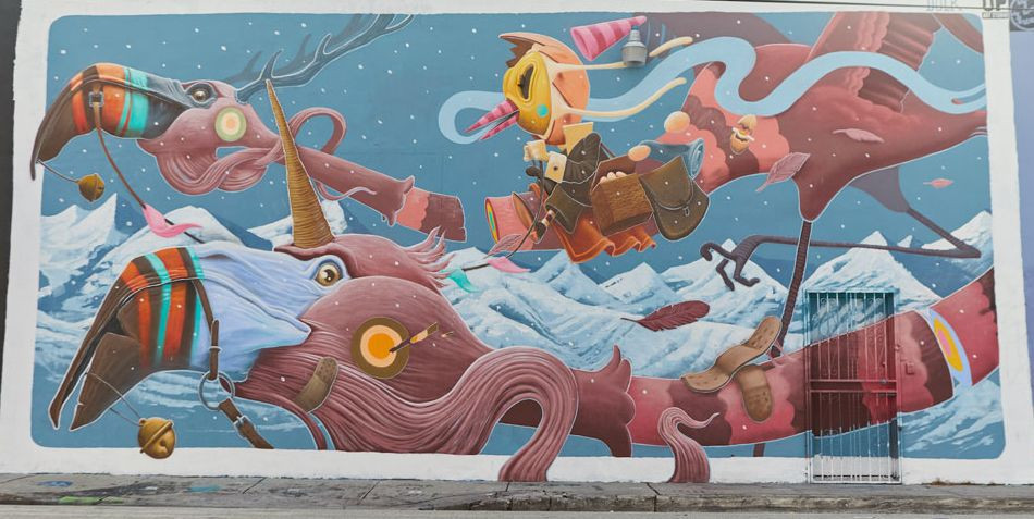 Wynwood District is about excitement and fun. Neighboring Art Basel Miami beach runs through Sunday as does Art Miami in the downtown and other such events in early December.