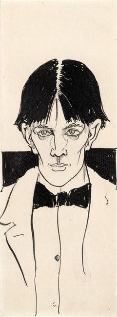 Aubrey Beardsley Self-Portrait 1892. British Museum