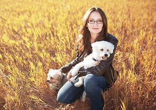 Courtney Blatch with Dogs
