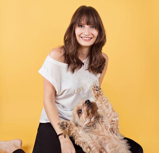 Courtney Blatch with Dog