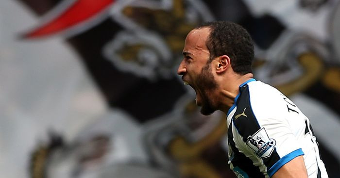 Townsend celebrating his winning goal against Crystal Palace. Picture courtesy of Football365