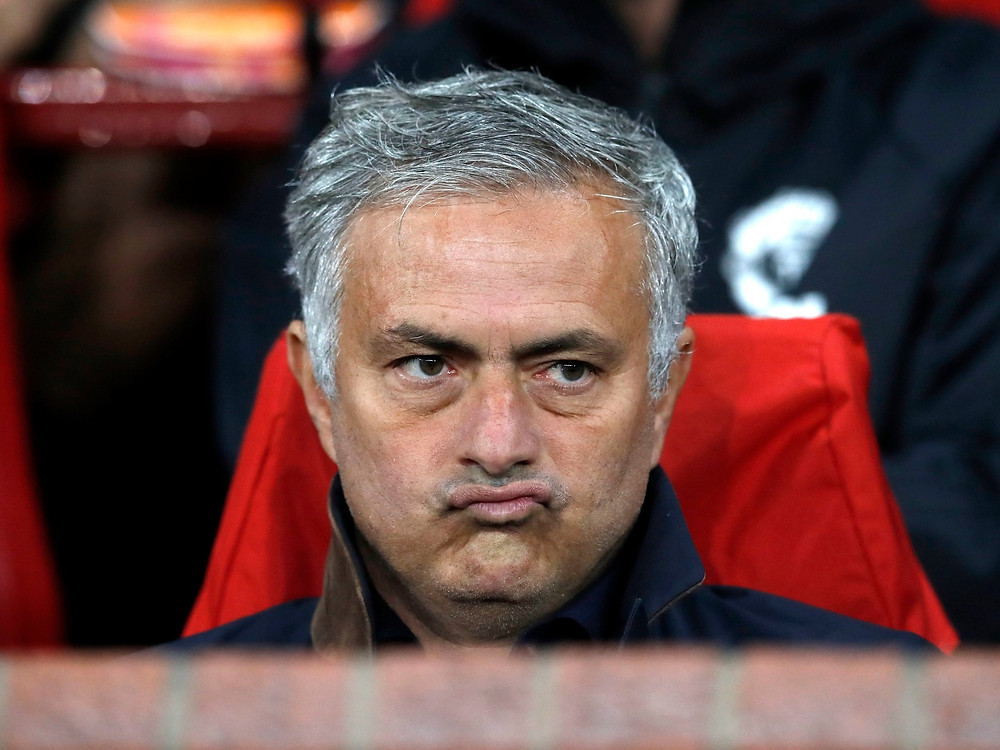 Many Man United fans would be glad to see the back of Mourinho with the way things are going. Picture courtesy of The Independent.