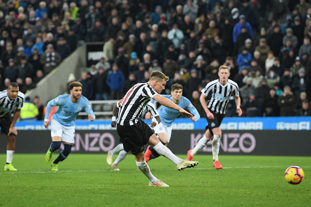 Ritchie has never missed a penalty for Newcastle. Picture courtesy of Coming Home Newcastle.