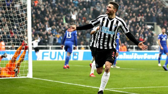 Schar scored just as many league goals against Cardiff as Joselu has scored this season. Guess who the defender and striker is? Picture courtesy of The Times.