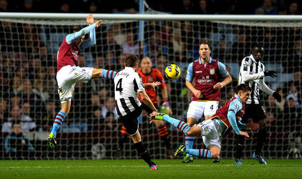 Cabaye's long range strike doubled Newcastle's lead. Picture courtesy of The Express Online.