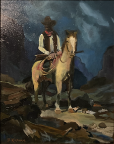 "Study of ""The Deputy Sheriff"" by Frank Tenney Johnson"