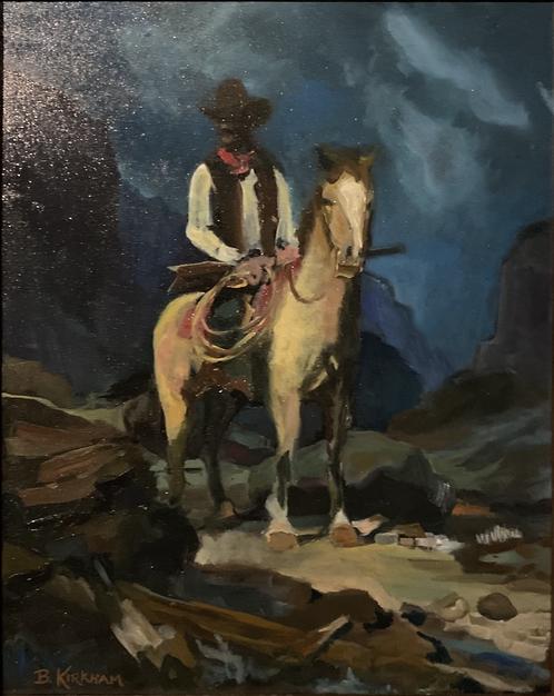 "Study of ""The Deputy Sheriff"" by Frank Tenney Johnson"