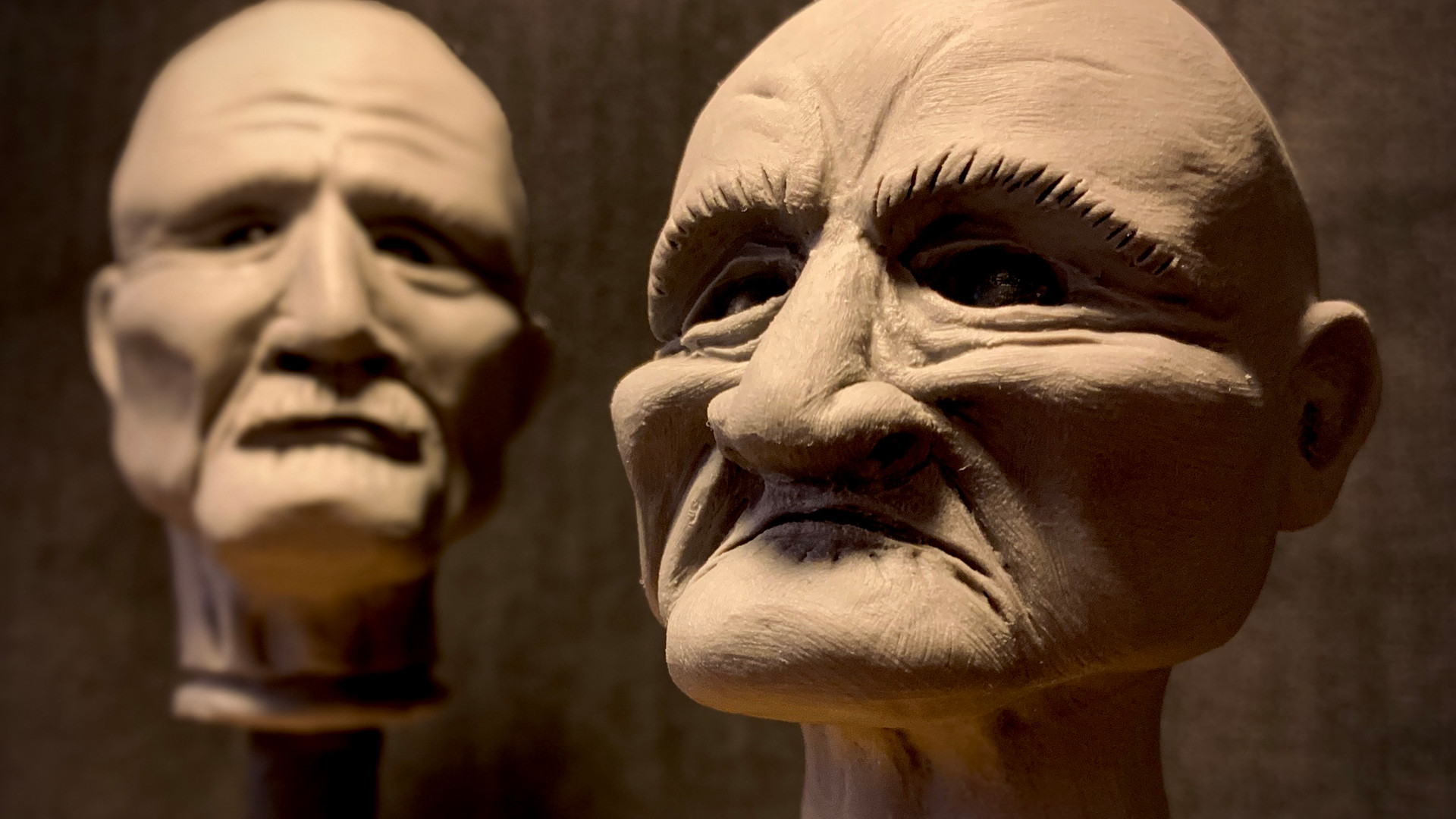 Sculpts of Grandma & Wash Barnes