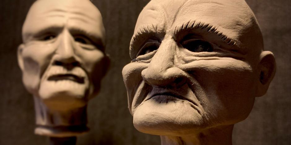 Sculpts of Grandma & Wash Barnes