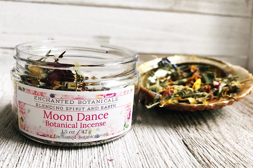 Loose Incense - MOON DANCE Botanical Blend, Herbs, Flowers, Organic