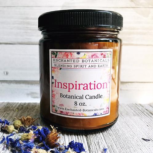 Candle - INSPIRATION Botanical Candle, Organic, Soy, Meditation