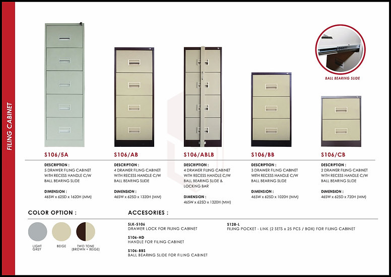 NEW - Filing Drawer Steel Cabinet Series