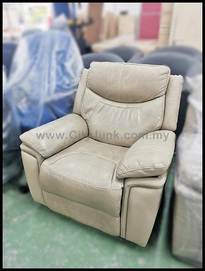 USED - ROZEL Single Seat Half Leather Reclining Sofa