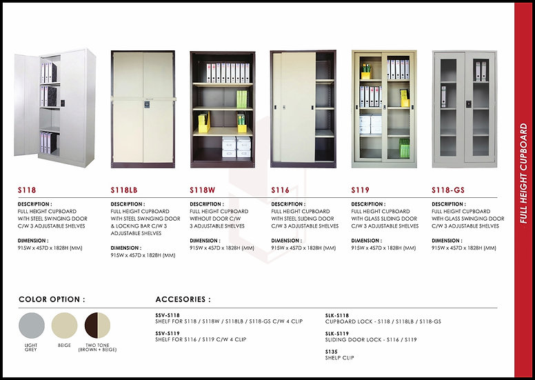 NEW - Full Height Steel Cabinet Series