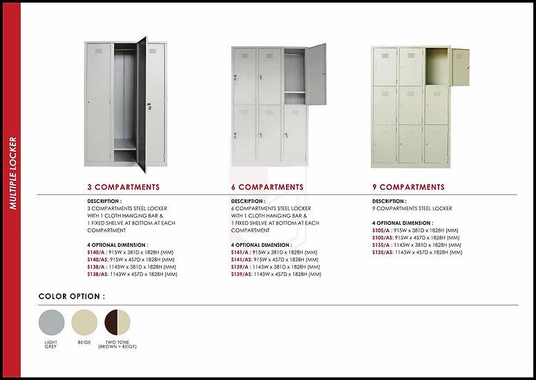 NEW - Multi Compartment Locker Series