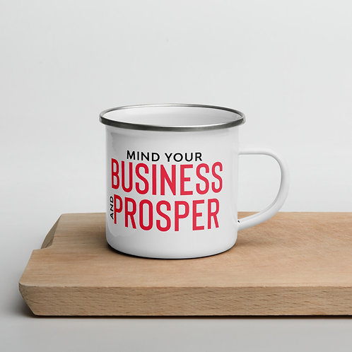 Mind Your Business Enamel Mug