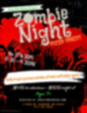 Zombie Night Flyer 19 - Made with Poster