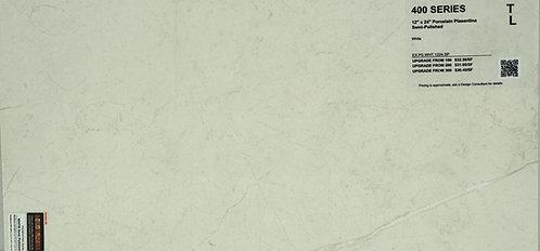 "400 Porcelain Pisentian white semi-polished 12""x 24"""