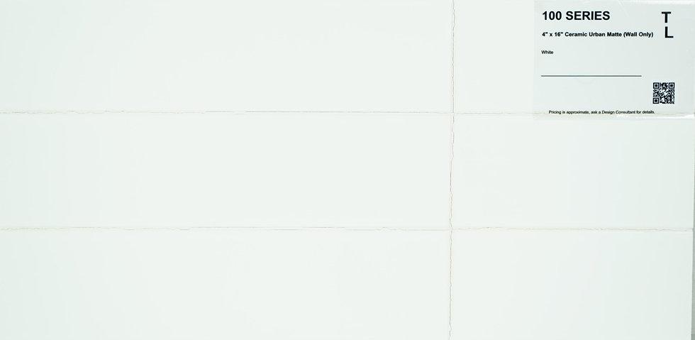 "100 Backsplash ceramic urban matte white 4""x 16"""