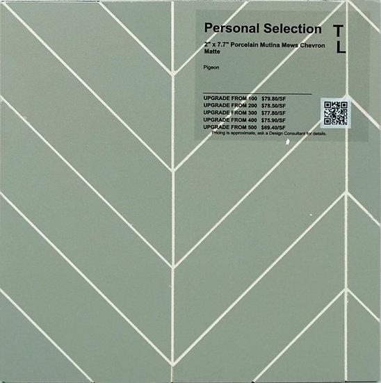 Personal Selection Porcelain mutina mews chevron pigeon matte