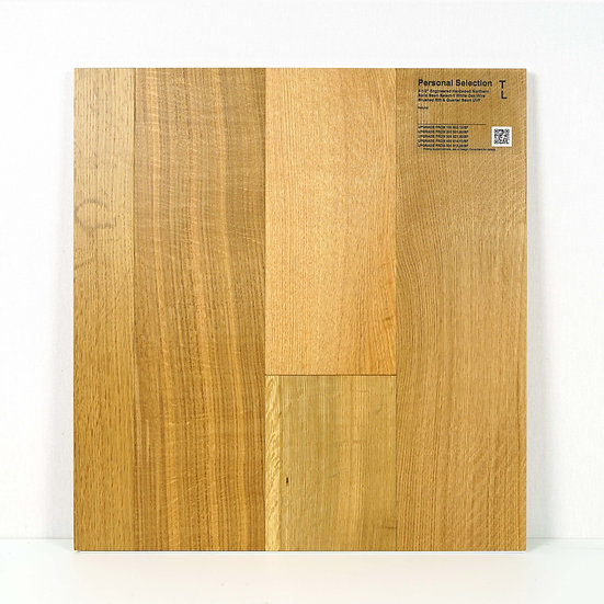 """PS Engineered 6 1/2""""  white oak wire brushed Natural"""