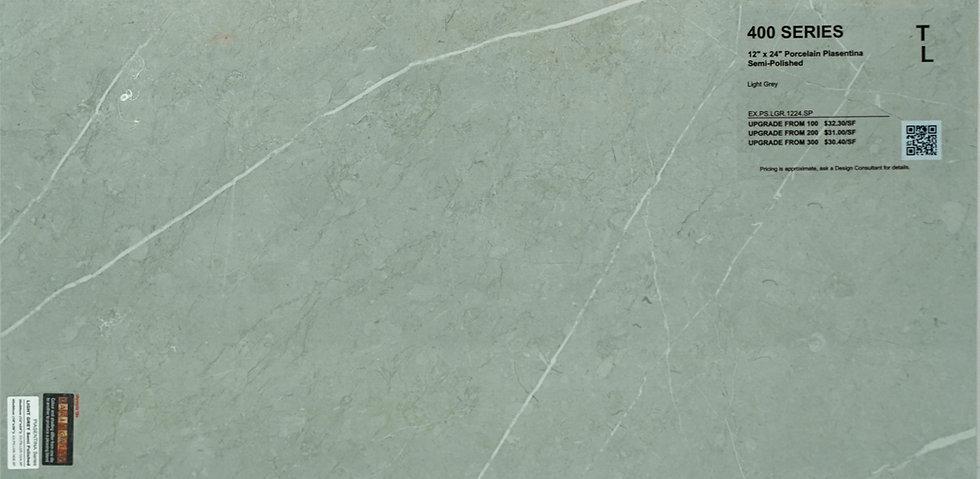 "400 Porcelain Pisentian light grey semi-polished 12""x 24"""