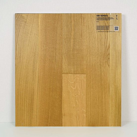 """500 Engineered 5"""" white oak wire brushed Natural"""