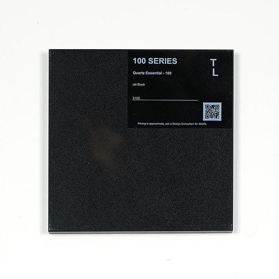 100 Quartz Jet Black Polished