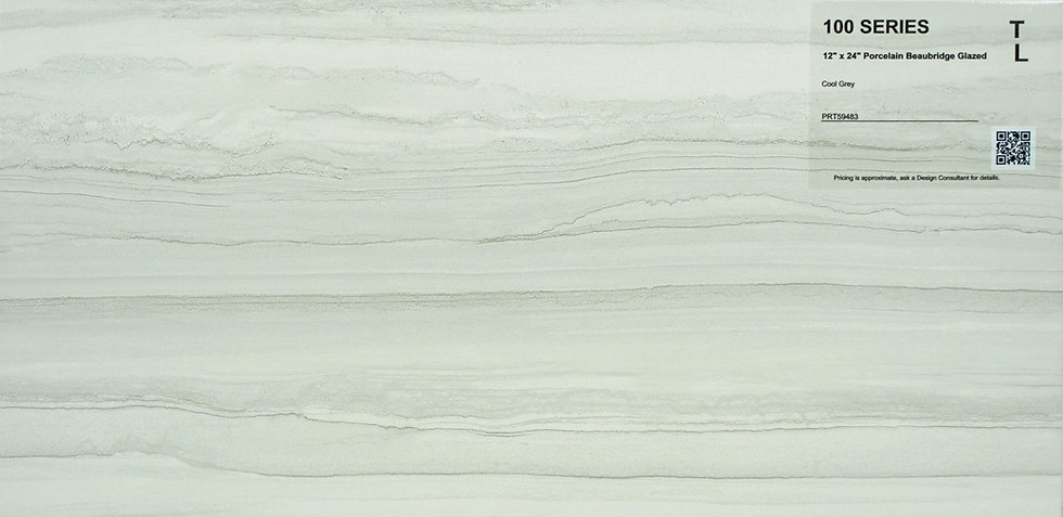 "100 Porcelain beaubridge glazed cool grey 12""x24"""