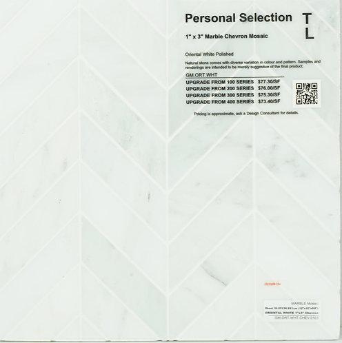 Personal Selection Marble chevron mosaic oriental white polished