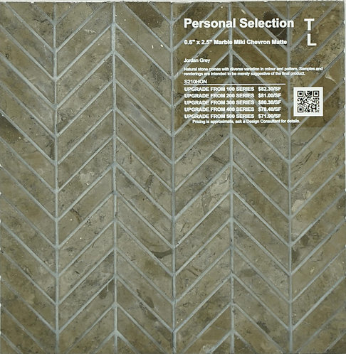 Personal Selection Marble chevron miki jordan grey polished