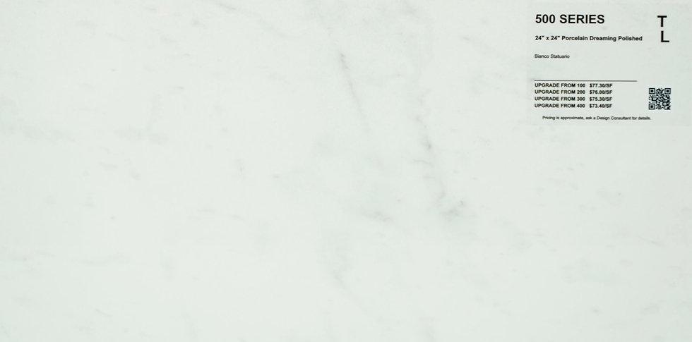 "500 Porcelain dreaming bianco statuario polished 24"" x 24"""