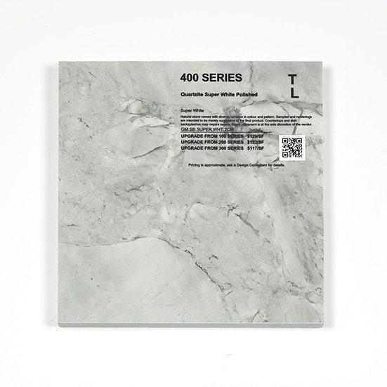 400 Quartzite Super White Polished